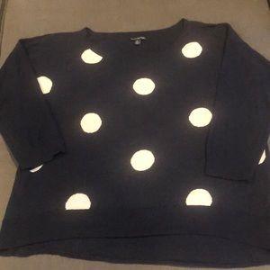 America Eagle Polka Dot 3/4 Sleeve Sweater
